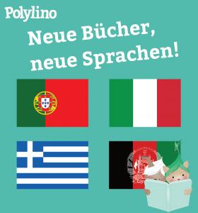Polylino jetzt auch auf Italienisch, Portugiesisch, Griechisch und Dari!
