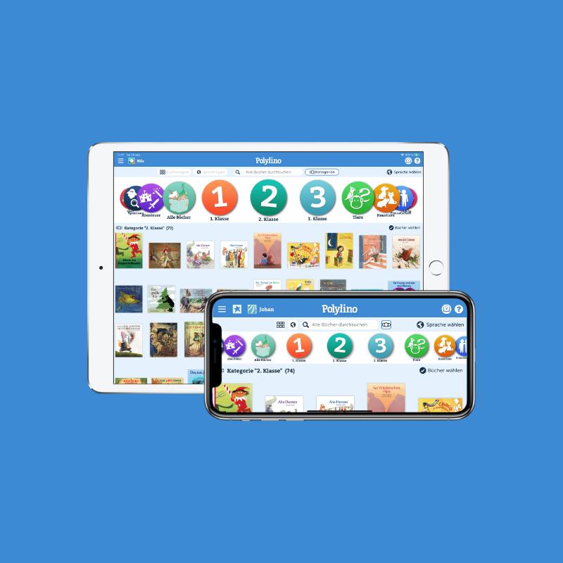 Polylino Schule, der digitale mehrsprachige Bilderbuchservice für die Grundschule